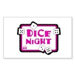 Dice Night Rectangle Sticker