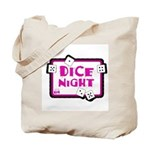 Dice Night Tote Bag