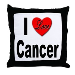 I Love Cancer Throw Pillow