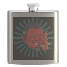 Smoking Devil Flask