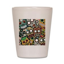 Day of the Dead Shot Glass