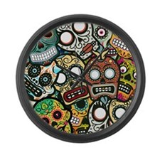Day of the Dead Large Wall Clock