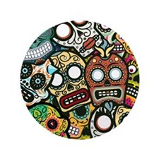 "Day of the Dead 3.5"" Button"