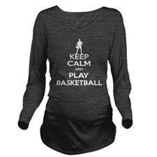 Keep Calm and Play B Long Sleeve Maternity T-Shirt