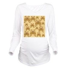 Bulldogs Pattern. Long Sleeve Maternity T-Shirt