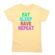 Eat Sleep Rave Repeat colorful Shirt Girl's Tee