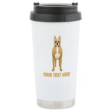 Boxer Dog and Custom Text. Travel Mug
