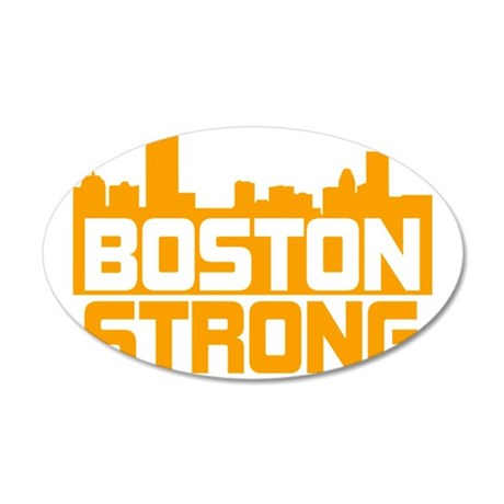 Boston Strong 35x21 Oval Wall Decal