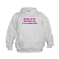 MX Kick Daddy's Butt Kids Motocross Hoodie Pink