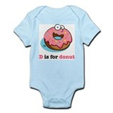 D is for Donut Infant Bodysuit