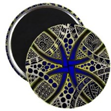 Celtic Knot Decorative Green Gold and Blue Magnet