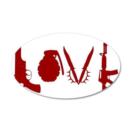 WeaponLove 35x21 Oval Wall Decal