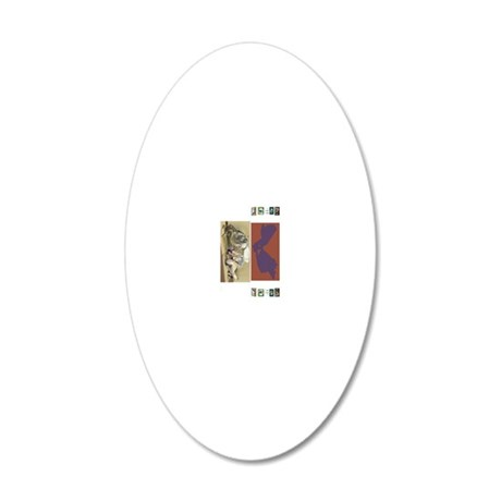 2 Book Jackets on a 20x12 Oval Wall Decal