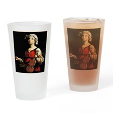 Saint Cecilia Patroness of Music Drinking Glass
