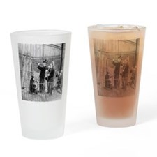 Band Playing Concert For Bears Drinking Glass