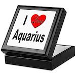 I Love Aquarius Keepsake Box