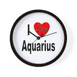 I Love Aquarius Wall Clock