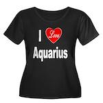I Love Aquarius (Front) Women's Plus Size Scoop Ne
