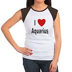 I Love Aquarius (Front) Women's Cap Sleeve T-Shirt