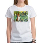 Basenji in Irises Women's T-Shirt