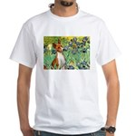 Basenji in Irises White T-Shirt