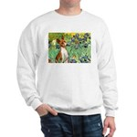 Basenji in Irises Sweatshirt