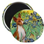 Basenji in Irises Magnet
