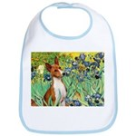 Basenji in Irises Bib
