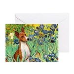 Basenji in Irises Greeting Cards (Pk of 10)