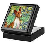 Basenji in Irises Keepsake Box