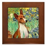 Basenji in Irises Framed Tile