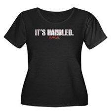 It's Handled Women's Plus Size Scoop Neck Dark T-S