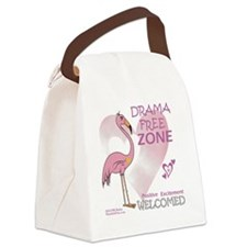 pink_flamingo_large03 Canvas Lunch Bag
