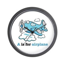 Funny Airplane cartoons Wall Clock
