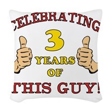 Funny 3rd Birthday For Boys Woven Throw Pillow