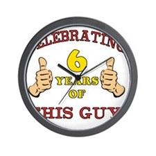 Funny 6th Birthday For Boys Wall Clock