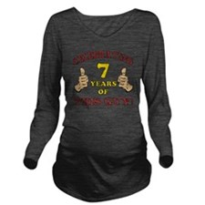 Funny 7th Birthday F Long Sleeve Maternity T-Shirt
