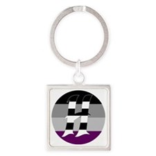 Heteroromantic Asexual Square Keychain