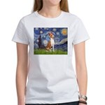 Starry Night & Basenji Women's T-Shirt