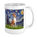 Starry Night & Basenji Large Mug