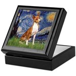 Starry Night & Basenji Keepsake Box