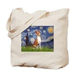 Starry Night & Basenji Tote Bag