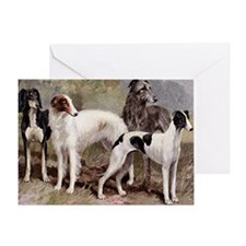 Borzoi And Sighthounds Greeting Card