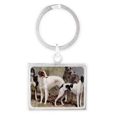 Borzoi And Sighthounds Landscape Keychain