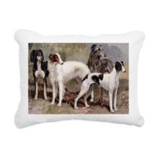 Borzoi And Sighthounds Rectangular Canvas Pillow