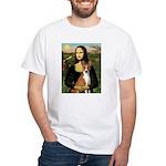 Mona Lisa - Basenji White T-Shirt