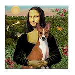 Mona Lisa - Basenji Tile Coaster