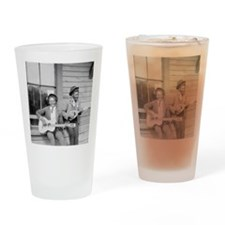 Travelling Musicians Drinking Glass