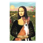 Mona Lisa - Basenji Postcards (Package of 8)