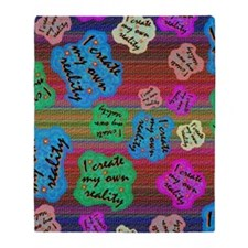 create Reality Throw Blanket